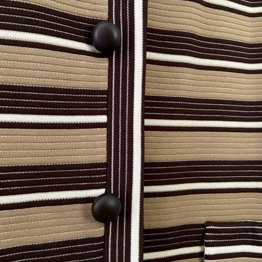 close-up detail of stripes