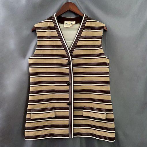 vintage 60s 70s butte knit striped vest